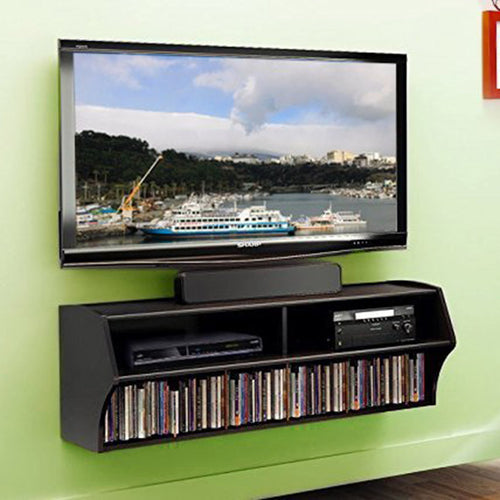 Wall Mounted Console for Audio and Video (Black)