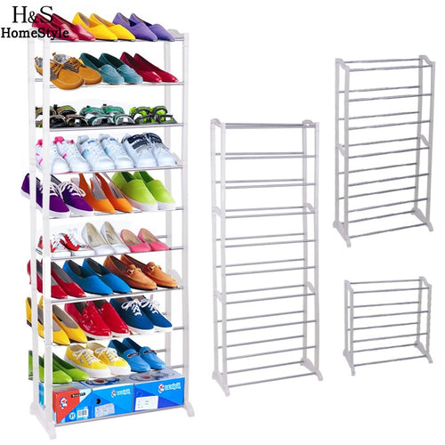 Homdox Portable Shoe Racks Folding Multilayer Non Woven Fabric Combination Dustproof Shoes Shelf Living Room Furniture N30*