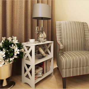 New Arrival Wooden Book Holder Shelf Home Storage Cabinet for Bedroom Furniture 27*40*57CM