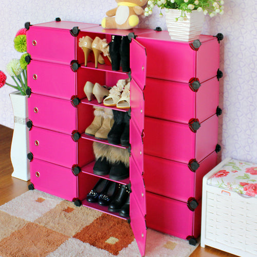2016 Direct Selling Real Shoe Cabinet Doors Rack Cabinet For Living Room Home Furniture Shelf To Shoe Storage Portable Hs-15