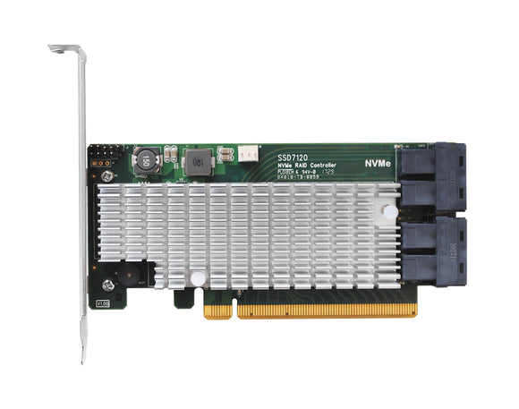 HighPoint SSD7120 4x dedicated 32Gbps U.2 Ports to PCIe 3.0 x16