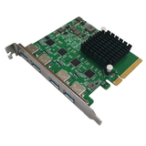 HighPoint RocketU 1244A PCIe 3.0 x8 4x 10GB/s Port USB 3.2 Controller