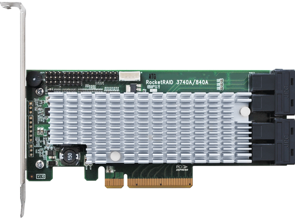RocketRAID 2840A PCIe 3.0 x8 16-Channel SAS 6Gb/s RAID 5/6 Controller