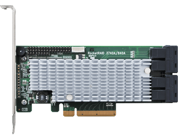 RocketRAID 3740A PCIe 3.0 x8 16-Channel 12Gb/s SAS RAID Controller