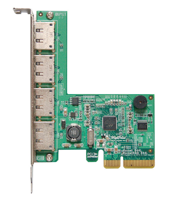 RocketRAID 644L 4-Channel 6Gb/s eSATA PCIe 2.0 RAID Controller