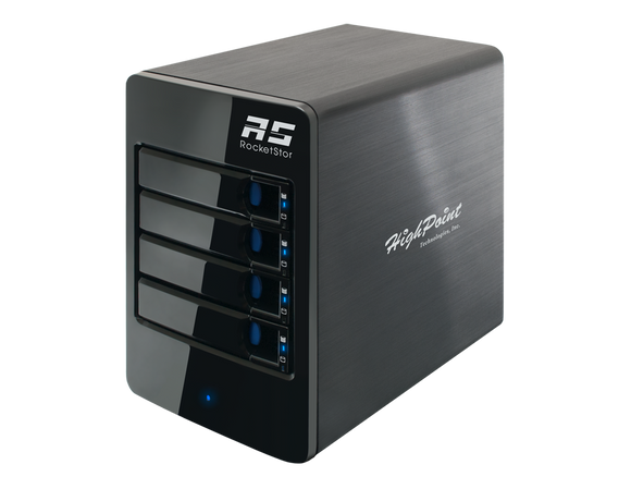 RocketStor 6314B 4-Bay Thunderbolt™ 2 to Thunderbolt™ 3 Hardware RAID Tower Enclosure