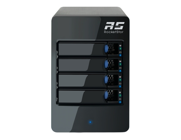 RocketStor 6414AS - 4-Bay 6Gb/s SAS/SATA  Hardware RAID Tower Enclosure