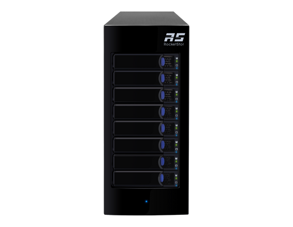 RocketStor 6418AS - 8-Bay 6Gb/s SAS/SATA Hardware RAID Tower Enclosure