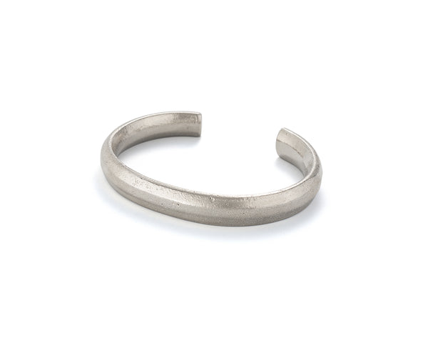 Thin Token Cuff, Sterling Silver