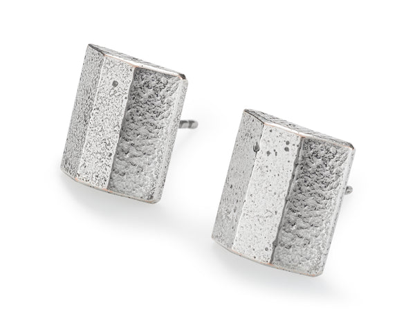 Token Earrings, Sterling Silver