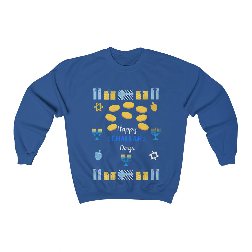 Happy Challah Days Ugly Hanukkah Sweater