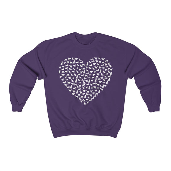 Cat Heart Sweatshirt