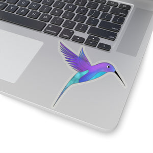 Watercolor Hummingbird Sticker, Hummingbird Sticker, Laptop Sticker, Water Bottle Sticker - jewelry-by-meesh