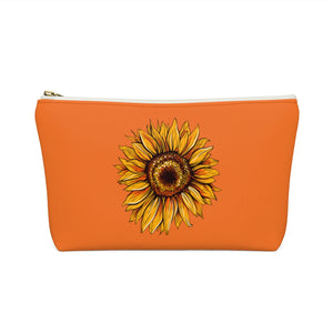 Sunflower Accessory Pouch with T-Bottom