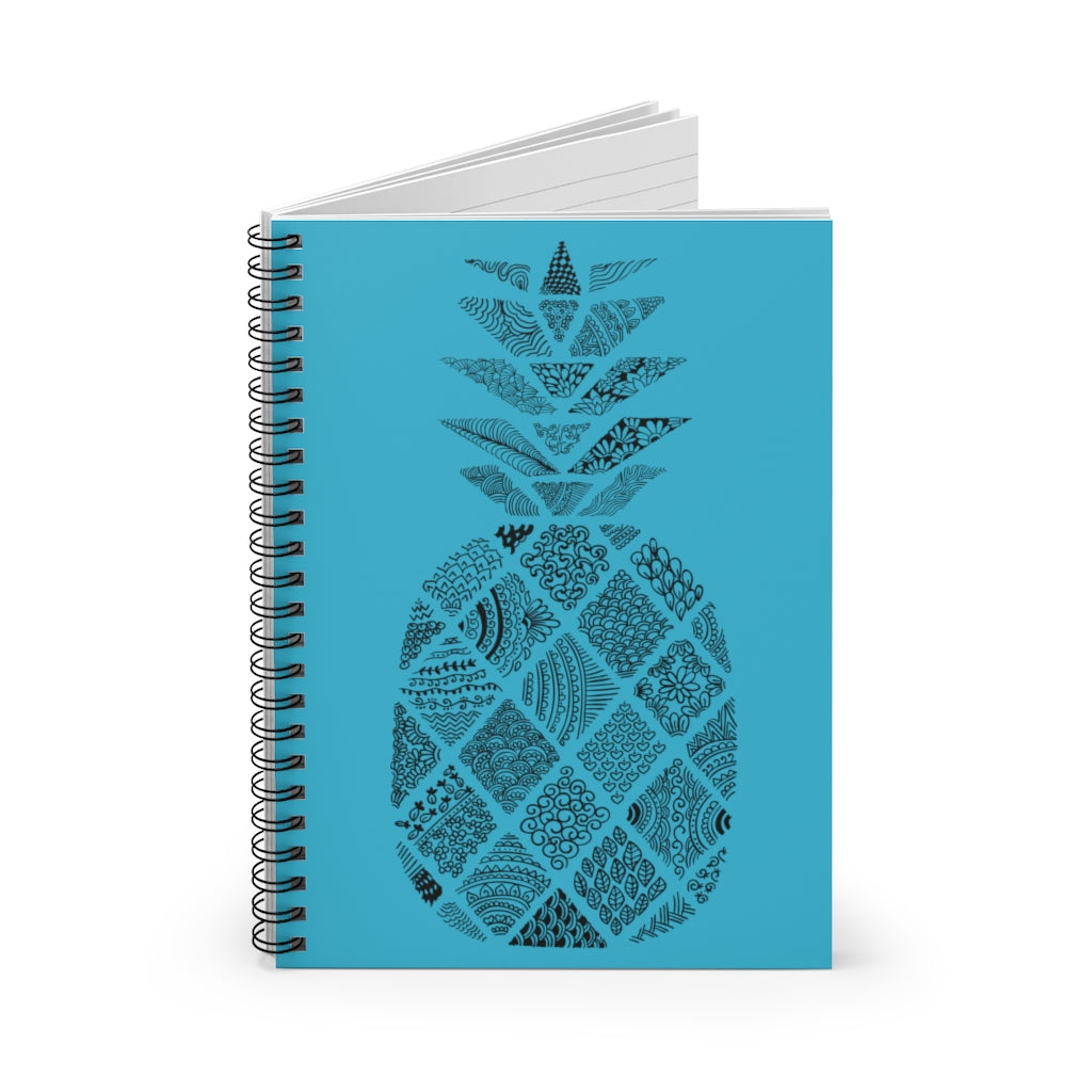 Pineapple Spiral Notebook - Ruled Line