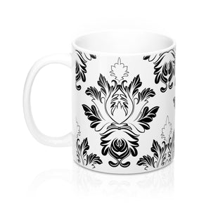 Victorian Print Mug 11oz, Damask Coffee Mug, Damask Teacup, Damask Coffee Cup, Victorian Coffee Cup, Victorian Mug - jewelry-by-meesh