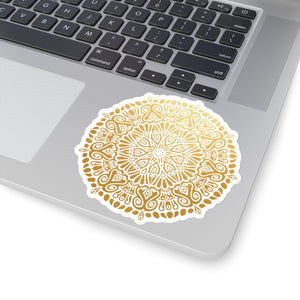 Gold Mandala Sticker, Mandala Sticker, Mandala, Bohemian Sticker, Bohemian Mandala Sticker, Boho Mandala Sticker, Boho Sticker - jewelry-by-meesh