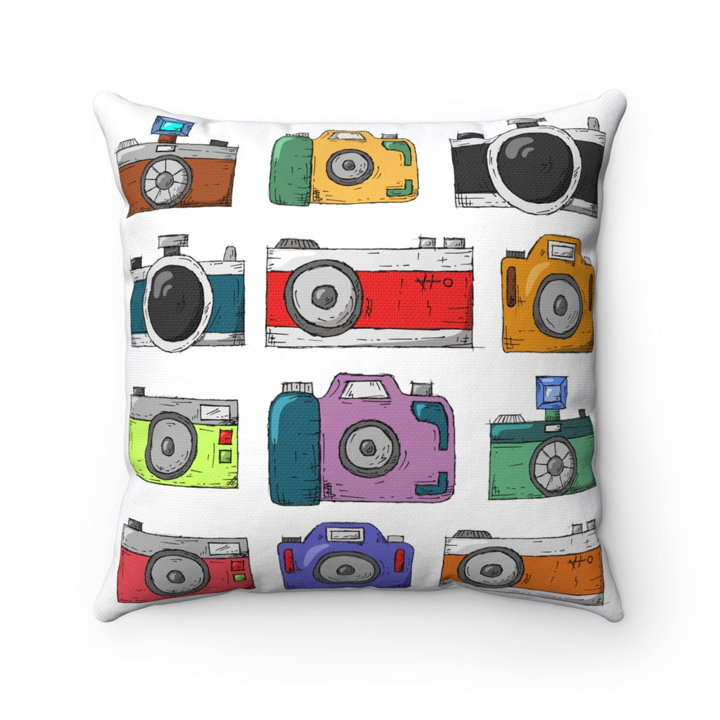 Camera Square Pillow - jewelry-by-meesh