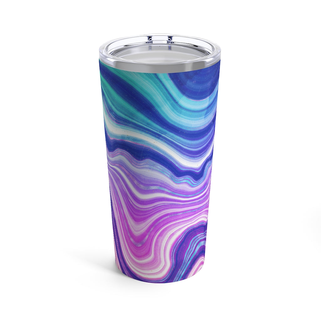 Neon Agate Watercolor Tumbler 20oz