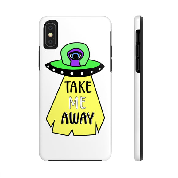 Alien Case Mate Tough Phone Case, iPhone Case, UFO Phone Case, Alien Phone Case, Alien Abduction Phone Case, Alien iPhone Case - jewelry-by-meesh