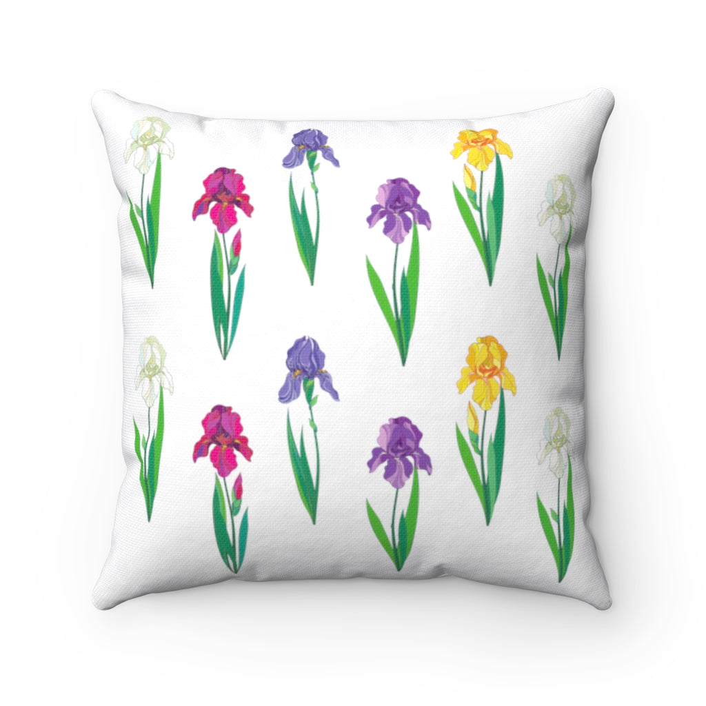 Iris Flower Square Pillow