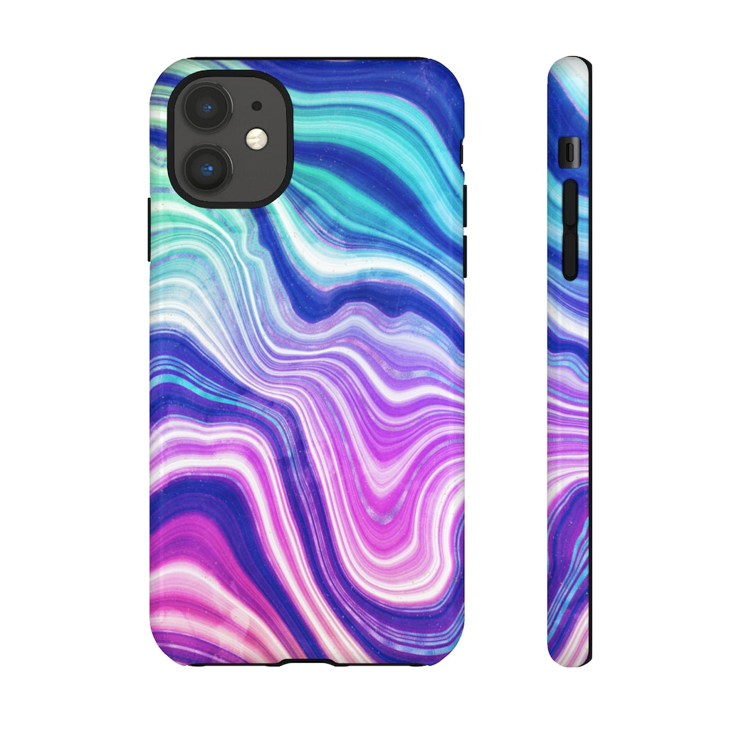 Neon Agate Tough Phone Case