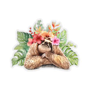 Tropical Sloth Sticker