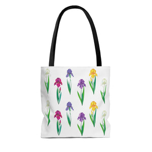 Iris Flower Tote Bag