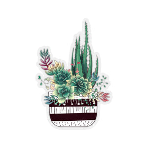 Succulent Sticker, Succulent Decal, Succulent Laptop Sticker, Laptop Sticker, Laptop Decal, Water Bottle Sticker, Journal Sticker - jewelry-by-meesh