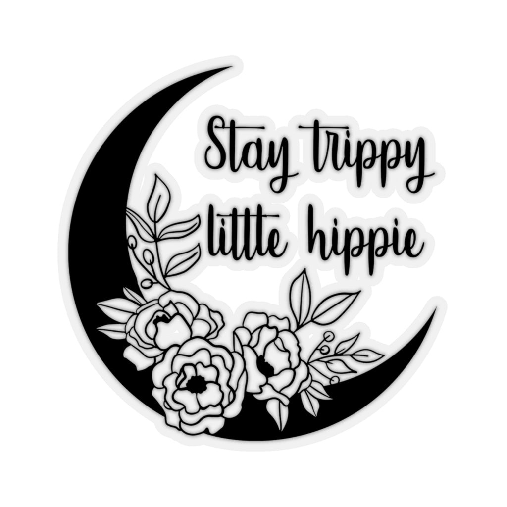 Stay Trippy Little Hippie Sticker, Hippie Sticker, Boho Sticker, Bohemian Sticker, Bumper Sticker, Laptop Sticker