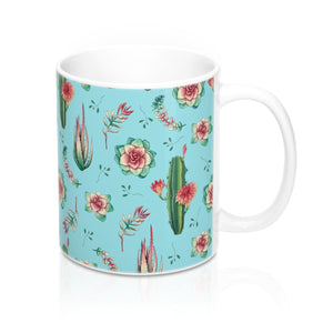 Cactus Mug 11oz, Succulent Mug, Cactus Coffee Cup, Cactus Coffee Mug, Cactus Teacup - jewelry-by-meesh