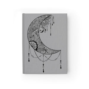 Floral Mandala Moon Spiral Notebook - Ruled Line