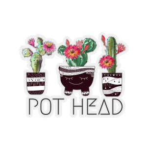 Pot Head Sticker, Succulent Sticker, Plant Sticker, - jewelry-by-meesh
