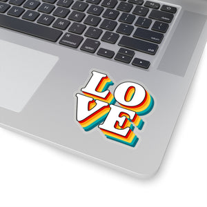 Love Sticker, Love Decal, Laptop Decal, Laptop Sticker, Love Laptop Sticker, Retro Sticker, - jewelry-by-meesh