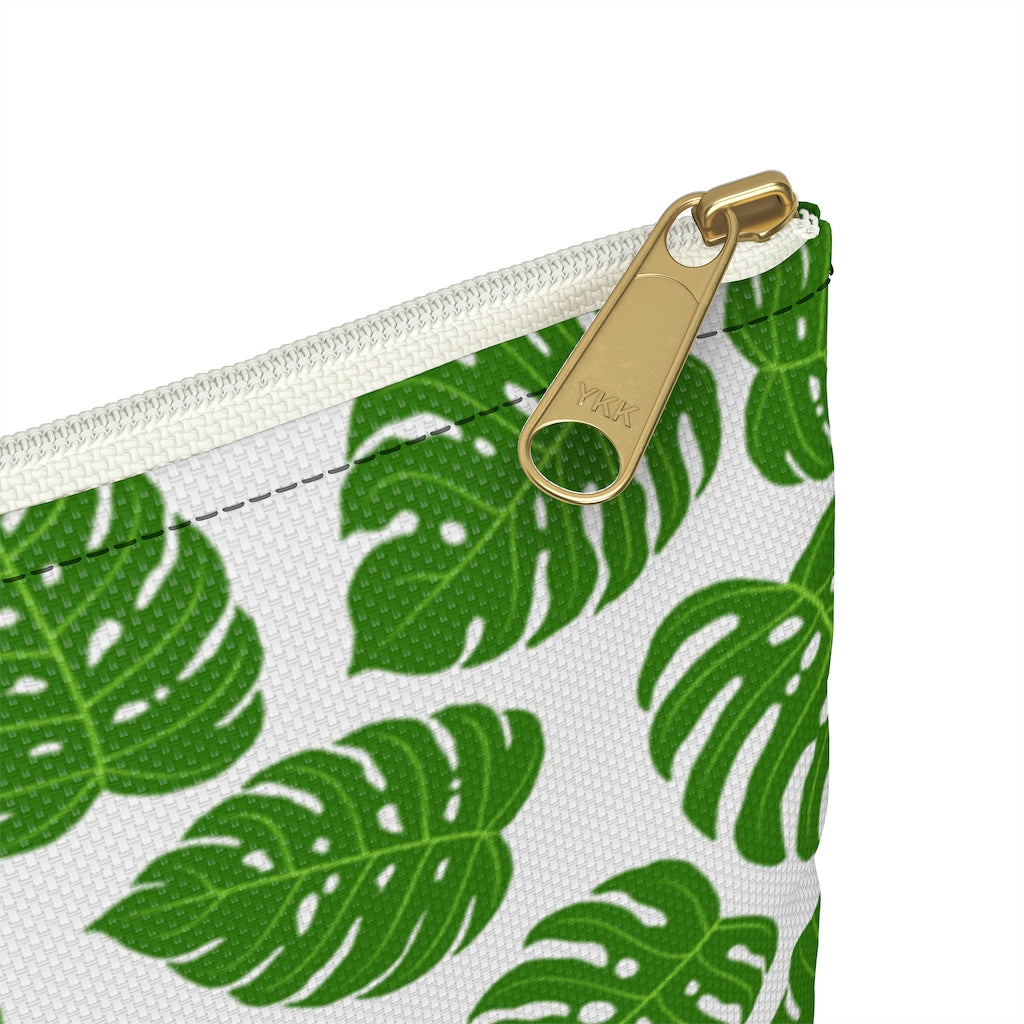 Monstera Leaf Accessory Pouch