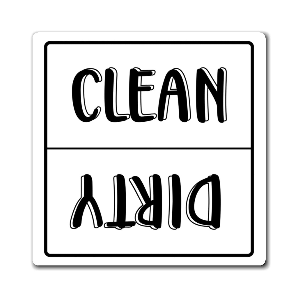 Dishwasher Magnet Clean Dirty, Dishwasher Clean/Dirty Magnet, Reversible Clean Dirty Magnet, Dishwasher Magnet - jewelry-by-meesh