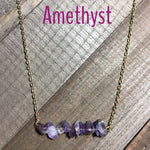 Gemstone Bar Necklace - jewelry-by-meesh