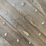 Quartz Crystal Hoop Earrings - jewelry-by-meesh