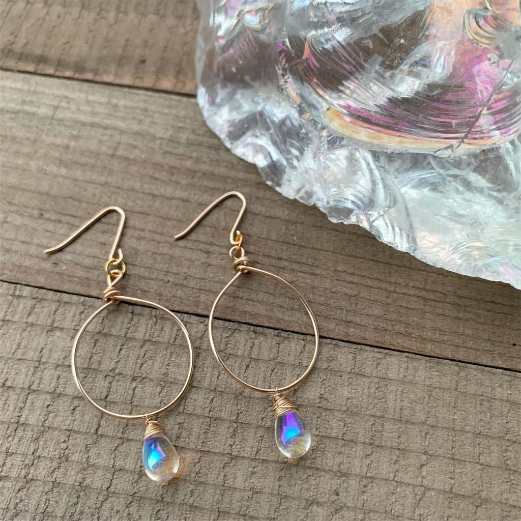 Gold Bohemian Teardrop Hoop Earrings - jewelry-by-meesh