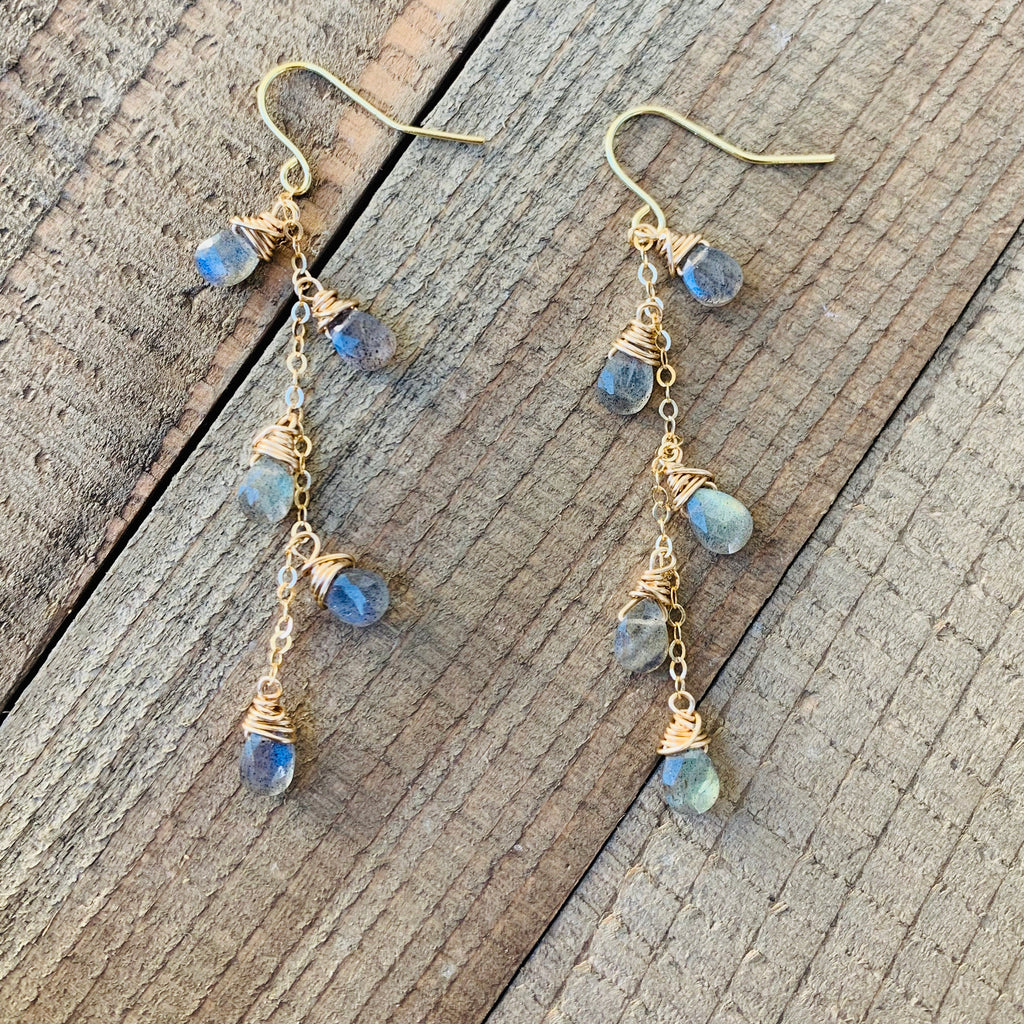 Lovely Labradorite Dangle Earrings - jewelry-by-meesh