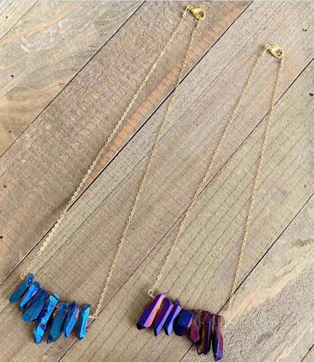 Titanium Quartz Necklace - jewelry-by-meesh