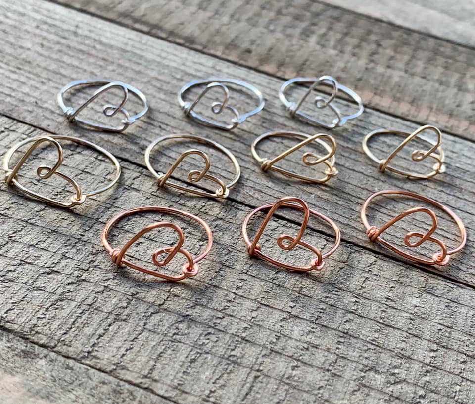 Wire Heart Ring - jewelry-by-meesh