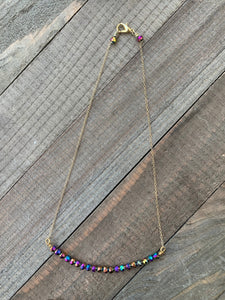 Iridescent Iris Bar Necklace - jewelry-by-meesh