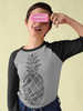 Pineapple 3/4  Sleeve Raglan Tee