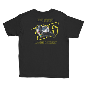 Youth Yellow Logo Star 96 Black Bike T-Shirt
