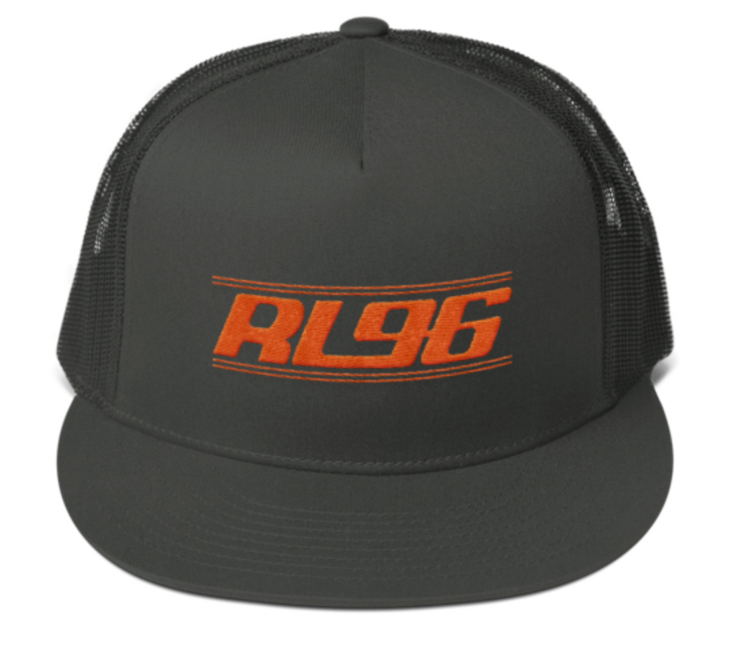 RL96 Orange Thread Trucker Hat