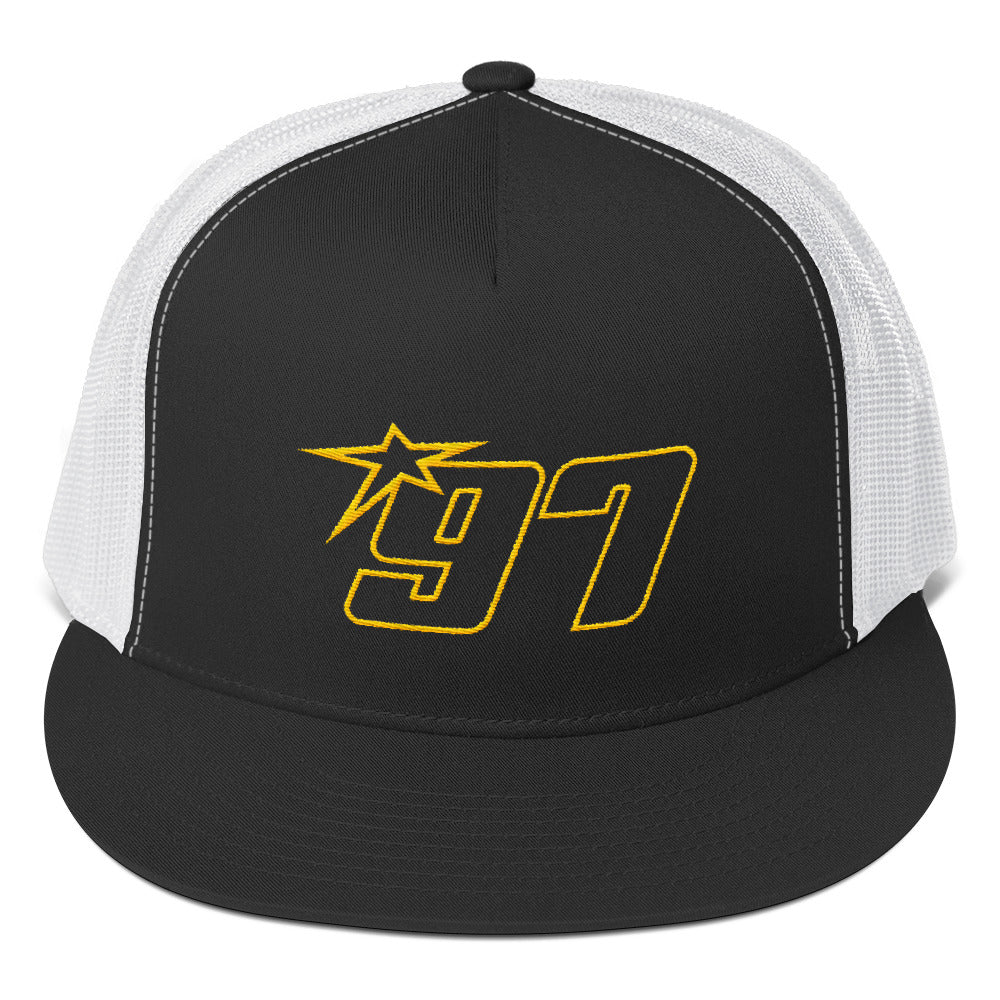 97 Yellow Thread Trucker Hat