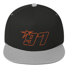 97 Orange Thread Flat Bill Hat