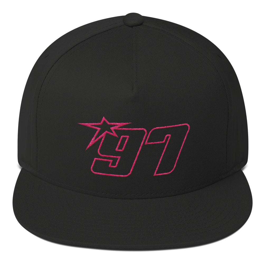 97 Pink Thread Flat Bill Hat