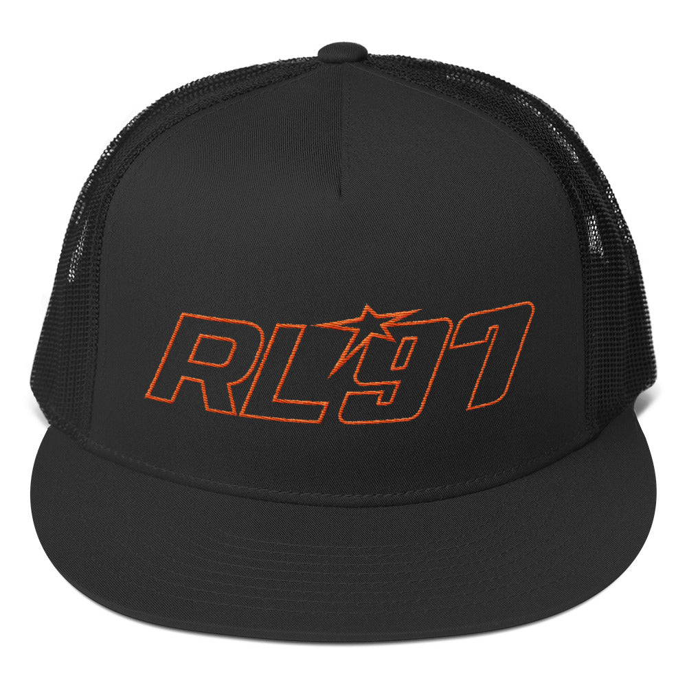 RL97 Orange Thread Trucker Hat